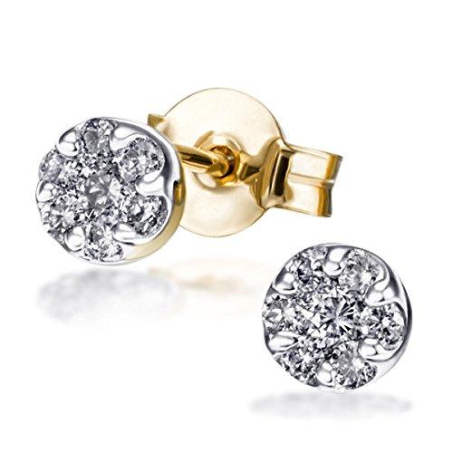 Goldmaid Damen-Ohrstecker Glamour 585 Gelbgold 14 Diamanten 0,25ct Ohrringe Brillanten Schmuck
