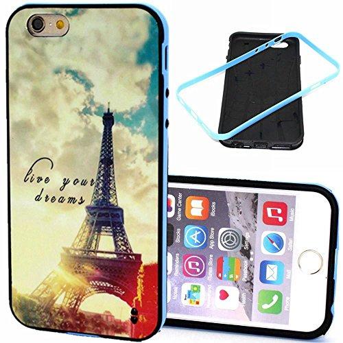 IPhone 6 / 6S (4.7 inch) Coque, MOONCASE Coloré Motif TPU Silicone Gel Étui Housse Protection Shell Cover Case Pour IPhone 6 / 6S (4.7 inch) YT14 YT12