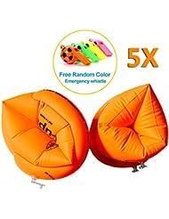 [5pares] yaaas2u Kids niños naranja Roll Ups brazaletes natación brazo bandas 1–6Y