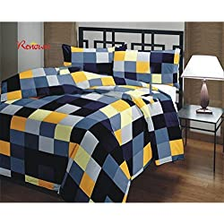 Renown Checked Design Print Reversible Single Bed AC Blanket / Dohar / Quilt ( Pack Of 1 )