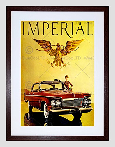 ADVERT 1961 IMPERIAL CAR AUTOMOBILE RED NEW BLACK FRAMED ART PRINT B12X10509 - 1961 Imperial