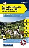 Deutschland Outdoorkarte 42 Schwäbische Alb Münsinger Alb 1 : 35.000: Bad Urach-Blaubeuren. Wanderwege, Radwanderwege, Nordic Walking (Kümmerly+Frey Outdoorkarten Deutschland) -