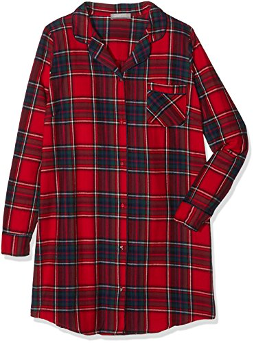 New Look Red Check Boyfriend, Chemise de Nuit Femme Red (Red Pattern)