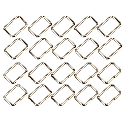 Silver Tone Nice Rectangle Multifuntional Metal Backpack Luggage Hand Belts Buckle Pack 20