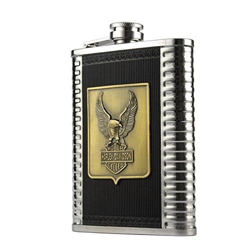 Preisvergleich Produktbild HARLEY DAVIDSON glaser whisky harley logo emblem bar&shield Thermosflasche Feldflasche Flasche für alcool whisky,