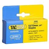 Tacwise 0336 - Caja de grapas 53/10 mm de largo, 2000 unidades