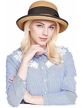 Señoras sombrero para el sol el sol de verano sombreado playa tiendas de moda casual gran dosel borde plegado...