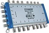 SCHWAIGER -5224- Multischalter 5 -> 16 / Verteilt 1 SAT-Signal auf 16 Teilnehmer / SAT-Verteiler / SAT-Splitter mit Netzteil / digital Multiswitch für Signal-Verteilung / in Kombination mit einem Quattro LNB / SAT-Anlage / Satelliten-Schüssel / HD-TV / 3D / DVB-T2 / Satelliten-Receiver