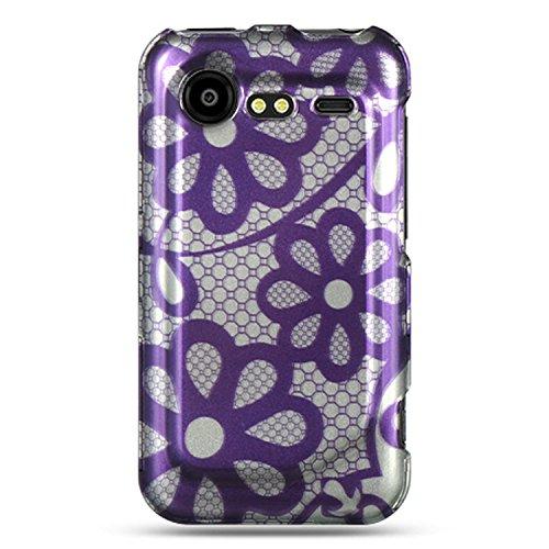 HTC Droid Incredible 2(ADR6350) Displayschutzfolie Fall-Violett Daisy [Elektronik] Daisy Faceplates