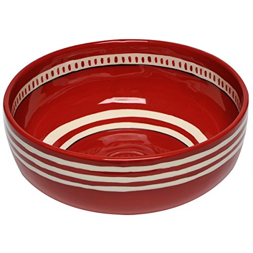 Thompson & Elm M. Bagwell Colors Collection Ceramic Serving Bowl, 9.25-Inches in Diameter, Red -
