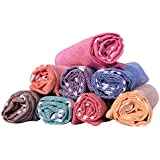 COMFORT WEAVE Cotton Hand Towel (Set of 8, Multicolour)