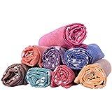 COMFORT WEAVE Cotton Hand Towel (Set of 8, Multicolour)