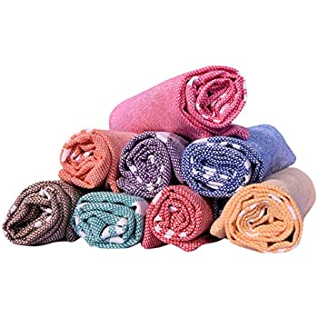 COMFORT WEAVE Cotton 8 Piece Hand Towel Set (Multicolor)