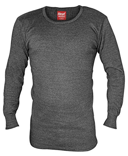 "HEAT HOLDERS - Herren Thermo Innenfleece Outdoor Langarm Unterhemd (X-Large (44-46"" Chest), Charcoal)"