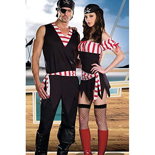 Männliche Kostüm Halloween - XUDSJ Halloween,Lack Kleid,hexenkostüm, Halloween Party Kostüme Männliche Und Weibliche Sexy Piraten Kostüm Lustige Cosplay Party Kleidung Kostüm (Color : B, Size : XL)