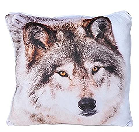 Custom Designed Timber Gray Wolf 13 Accent Throw Pillow by RIN
