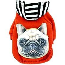 smalllee Lucky Store sudadera/sudadera con capucha de algodón para hombre con mochila para perro/gato,,