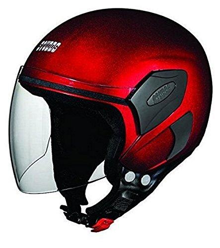 Studds Femm Super Half Helmet (Cherry Red, XS)