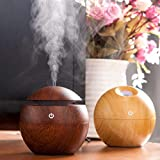 Portable Mini Wooden Air Humidifiers Aromatherapy Ultrasonic Humidifier Oil Aroma Diffuser Usb Purifier Color Changing Led Touch Switch Atomization Humidifier For Home Office and Car