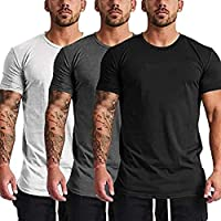COOFANDY Men's 3 Pack Gym Workout T Shirt Short Sleeve Base Layer Muscle Bodybuilding Training Fitness Tee Tops