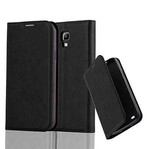 Cadorabo Custodia Libro per Samsung Galaxy S4 Active in Nero di Notte - con Vani di Carte, Funzione Stand e Chiusura Magnetica - Portafoglio Cover Case Wallet Book Etui Protezione