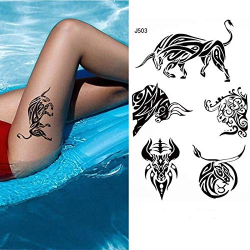 Tzxdbh impermeabile temporary tattoo sticker piuma gatto fox colore della penna degli animali tatto tatoo arte tatuaggi per kid
