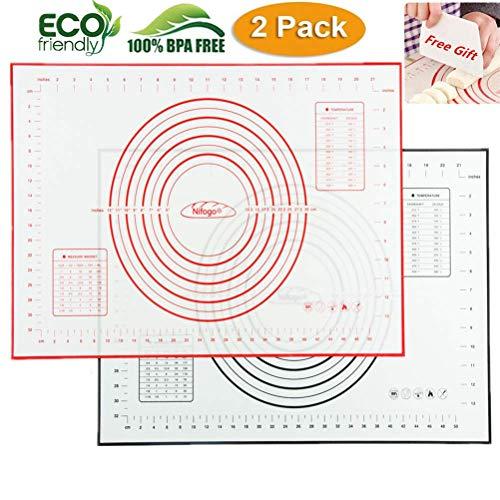 Tapete de Cocción Lámina de horno de Silicona Antiadherente, Juego de Repostería Profesional, Ecológico y Reutilizable 40x60cm