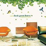 Myytcy Fresco Natural Verde Tropical Árbol de Rafia Hojas Etiqueta de La Pared de Vinilo Mural Art Sticker para la Sala de Estar Dormitorio Tatuajes de Pared