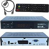 Echosat 20700 - HD Sat Receiver digitaler Satelliten-receiver (HDTV,DVB-S/S2, HDMI,SCART, 2x USB 2.0, Full HD 1080p,) [vorprogrammiert für Astra Hotbird Türksat ]