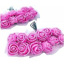 Cotigo -96 Piezas Artificiales Rosa Flor de Goma eva Novia Decoración, Boda Fiesta Favor