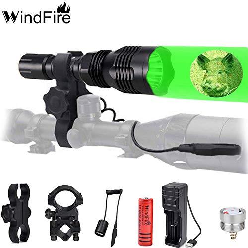 Rot grün Taschenlampe LED Licht Jagd Taschenlampe Kit für Wandern, Camping, Jagd, Suche, Batterien Enthalten, Ferndruckschalter, Ladegerät