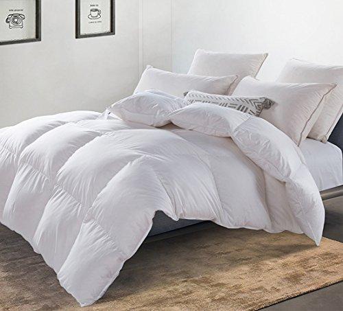 gaensedaunenbettdecke MoSurprise Premium Daunendecke 720g 100% Gänsedaunen Luxus 4 Jahreszeiten Daunen Bettdecke Hypoallergene Ganzjahresdecke 135 x 200 cm weiß