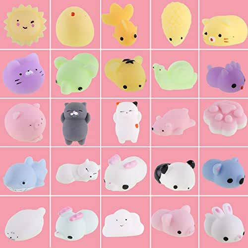 mini kawaii miniaturas kawaii VLAMPO 25 PCS Mini Squishies Animali Mochi Squishy Toys, Squishy Kawaii Squishy Cat Giocattoli antistress per bambini e adulti