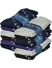 Lavazio® 6   12   18   24 Paar warme und kuschlige Damen Thermosocken in 4 Farben