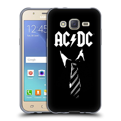 Ufficiale AC/DC ACDC Cravatta Iconico Cover Morbida In Gel Per Samsung Galaxy J5 / J500