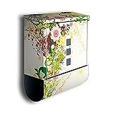 wandmotiv24 Briefkasten Edelstahl Zeitungsrolle Motiv Luca - Design Mailbox Modern, Zeitungsfach, Designbriefkasten, Postkasten, Bunt
