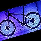 pamase 2Packungen Wasserdichtes Bike Rad Licht–20LED-Lampe Perlen Strip für Fahrrad