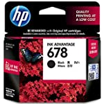 HP 678 Black Original Ink Advantage Cartridge CZ107AA Take advantage of premium HP quality for a lower cost. Produce high-quality everyday documents with crisp, black text while saving on printing costs, using Original HP ink cartridges.