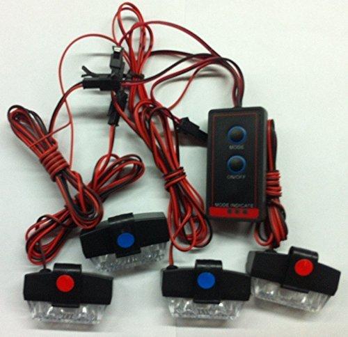 Auto Car LED ultra fine avertissement 6modes flash 12V 4W de danger de sécurité d'urgence de la torche électrique Grille Du précipité de la plate-forme Strobe Light Lamp Bar KM333 personalizzare