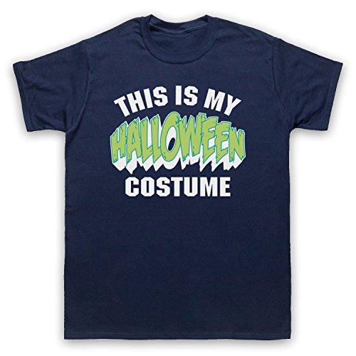 This Is My Costume Halloween Herren T-Shirt Ultramarinblau