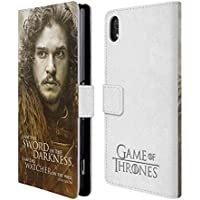Official HBO Game Of Thrones Jon Snow Character Portraits Leather Book Wallet Case Cover For Sony Xperia Z2