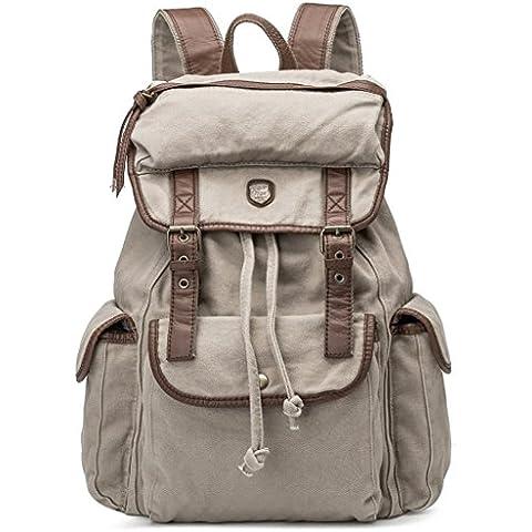 Bdawin Canvas Zaino Uomo Donna Unisex Canvas Backpack Rucksack Viaggio Zaino trekking Zaini Trekking Borse