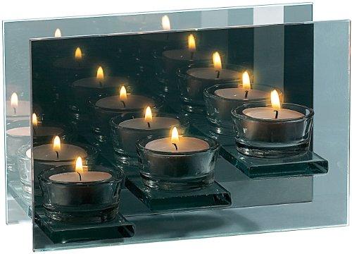 Rosenstein & Söhne Teelichthalter aus Glas für 3 Lichter