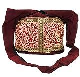 Guru-Shop Sadhu Bag, Schulterbeutel, Hippie Tasche - Weinrot, Herren/Damen, Baumwolle, Size:One...