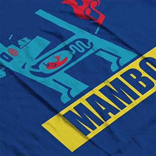 Mambo Farting Chili Blue Dog Women's Hooded Sweatshirt Royal Blue