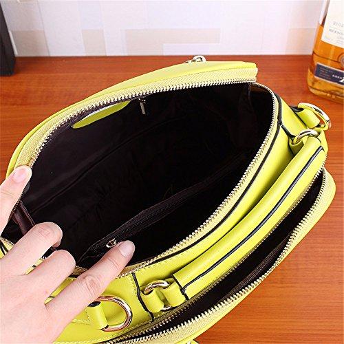 Elegantes Leder handtasche Tasche Leder Einzel weiblich Schultertasche einfache große Kapazität Freizeitaktivitäten handtaschen Tasche mit Fransen, 28 * 10 * 23 cm Gelb