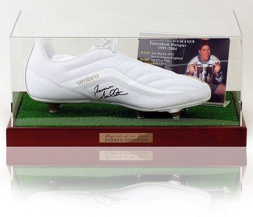 Darren-Anderton-hand-signed-Tottenham-Football-boot-presentation