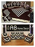 Ab Home Decor Diamond Design coffee diwan set and sofa cover set combo