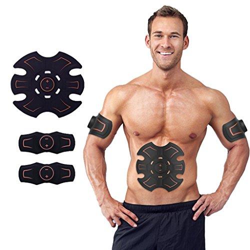 Elektrostimulatoren EMS Muskelstimulator, Bauchmuskel Toner Abs Trainer Fitnesstraining Getriebe ABS Fit Gewicht Muskeltraining Ab Gürtel Toning Gym Workout Maschine Für MenWomen.