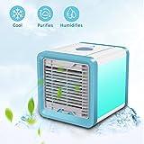 Aire Acondicionado Móvil para Escritorio / Hogar / Oficina ,3-en-1 Ventilador más frío,Humidificador & Purificador de Aire...